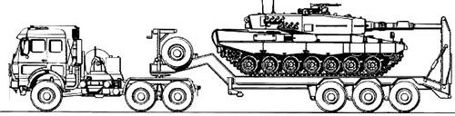 Mercedes-Benz 3250 AS + Leopard 2