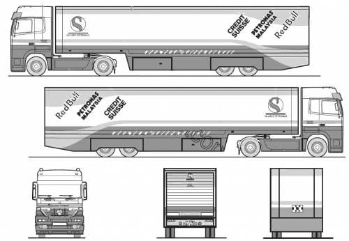 Mercedes-Benz Acrors 4x2 Sauber Petronas