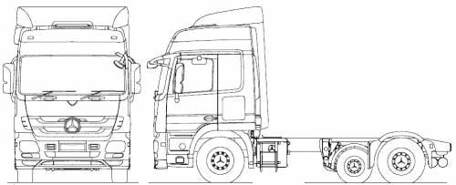 Mercedes-Benz Acrors 6x2 Midlift Tractor (2010)