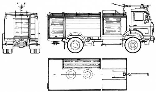 Mercedes-Benz AK1719-30 Fire Truck (1982)