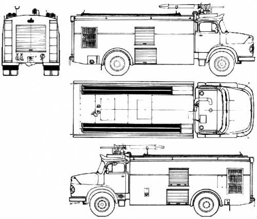 Mercedes-Benz L1621 Fire Truck (1975)