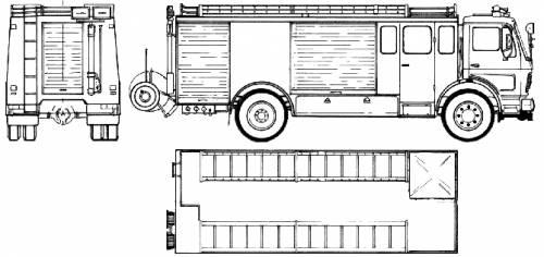 Mercedes-Benz L1632-45 4x2 Fire Truck (1980)
