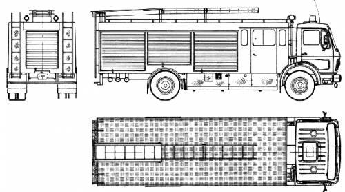 Mercedes-Benz L1724 Fire Truck (1979)