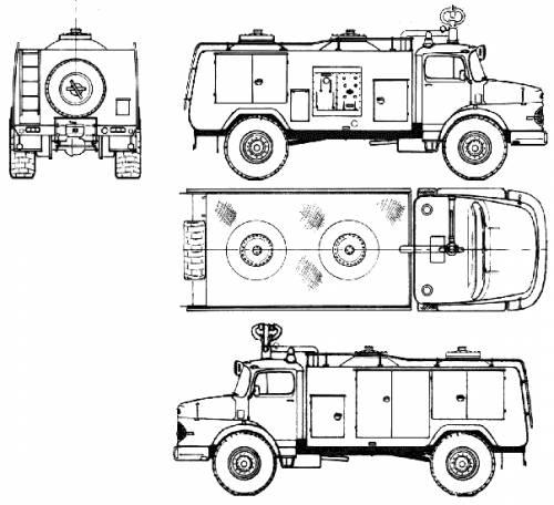 Mercedes-Benz L1923 Fire Truck (1969)