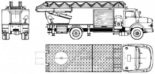 Mercedes-Benz L1924 Fire Truck (1980)