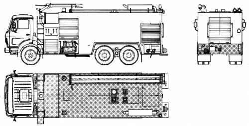 Mercedes-Benz L2232 Fire Truck (1983)