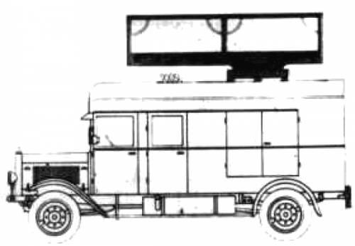 Mercedes-Benz L25000 Drehturmwagen