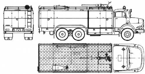 Mercedes-Benz L2624 6x6 Fire Truck (1973)