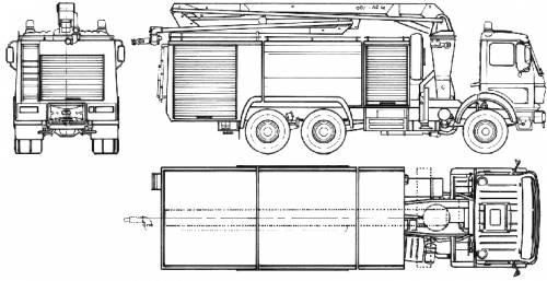Mercedes-Benz L2636-38 Fire Truck (1987)