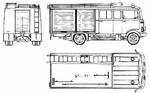 Mercedes-Benz L608-35 Fire Truck (1976)