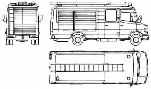 Mercedes-Benz L809D Fire Truck (1988)