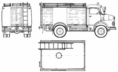 Mercedes-Benz LA911-32 Fire Truck (1974)
