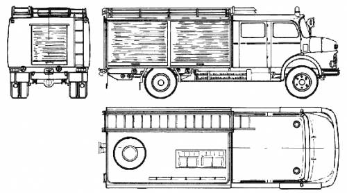 Mercedes-Benz LAF1113-42 Fire Truck (1974)