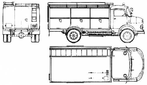 Mercedes-Benz LAF1113 B Fire Truck (1974)