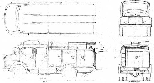 Mercedes-Benz LAF322 Fire Truck (1964)