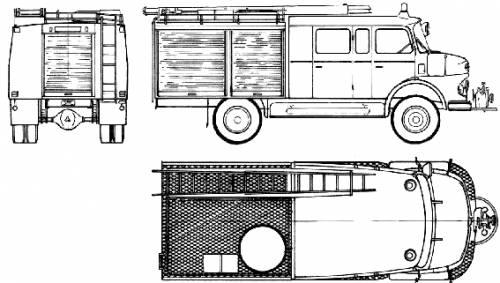 Mercedes-Benz LAF911 B-36 Fire Truck (1975)