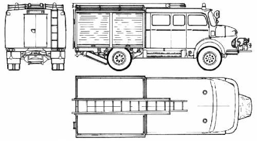 Mercedes-Benz LAF911 B Fire Truck (1974)