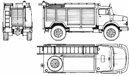 Mercedes-Benz LAK1924 Fire Truck (1973)