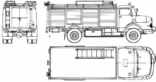 Mercedes-Benz LAK1924 Fire Truck (1974)