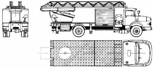 Mercedes-Benz LAK1924 Fire Truck (1980)