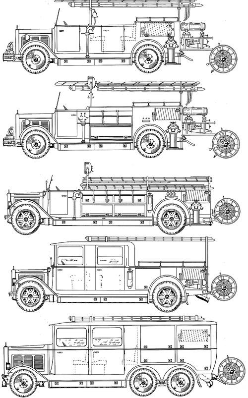 Mercedes-Benz LG3000 Fire Engine