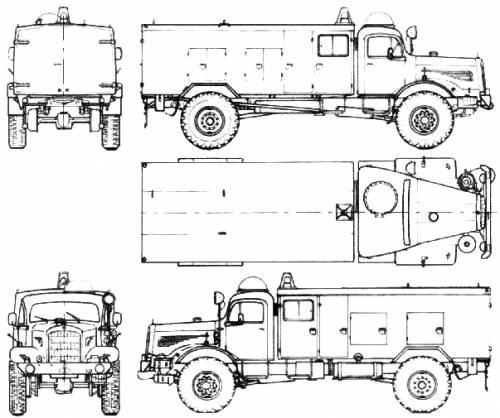 Mercedes-Benz LG315-46 Fire Truck (1963)