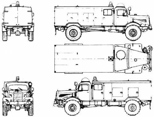 Mercedes-Benz LG315 4x4 Fire Truck (1955)