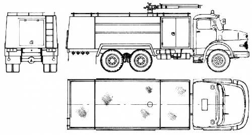 Mercedes-Benz LK2624 6x4 Fire Truck (1980)