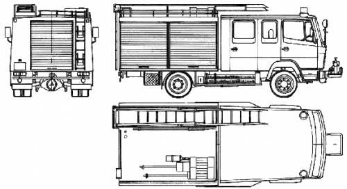 Mercedes-Benz LN2 814-31 Fire Truck (1986)