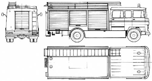 Mercedes-Benz LP1319 Fire Truck (1972)