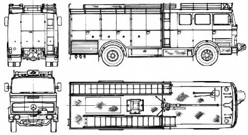 Mercedes-Benz LP1924-46 Fire Truck (1968)