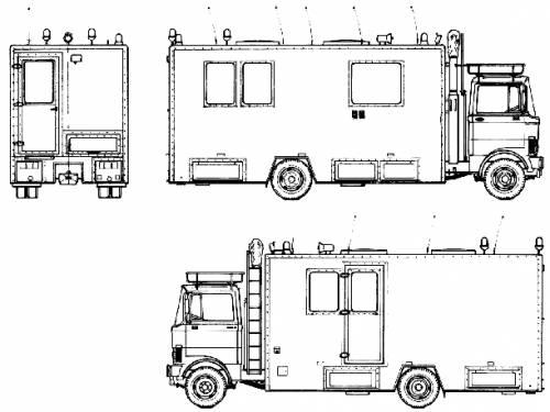 Mercedes-Benz LP808 Fire Truck (1983)