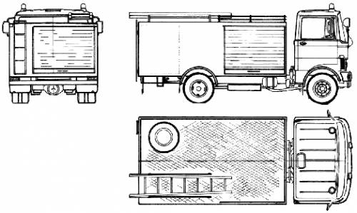 Mercedes-Benz LP813-32 Fire Truck (1978)