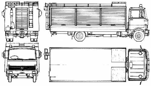 Mercedes-Benz LP813-42 Fire Truck (1972)