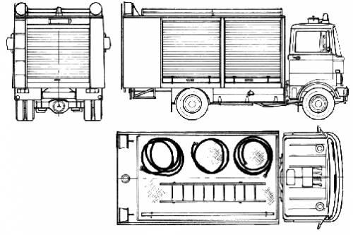 Mercedes-Benz LP813 Fire Truck (1978)