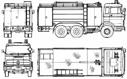 Mercedes-Benz LPK22323-26 Fire Truck (1972)