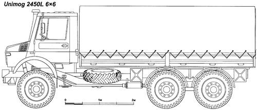 Mercedes-Benz Unimog 2450L 6x6