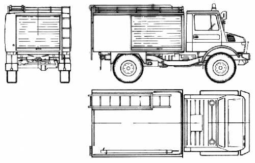 Mercedes-Benz Unimog U1300L Fire Truck (1978)
