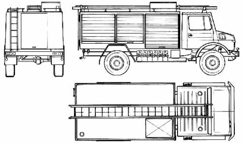 Mercedes-Benz Unimog U1300L Fire Truck (1980)