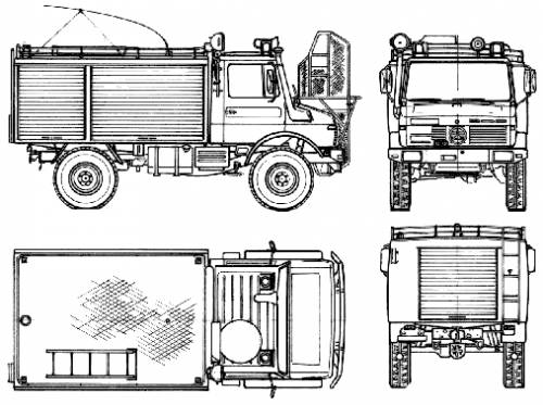 Mercedes-Benz Unimog U1300L Fire Truck (1981)