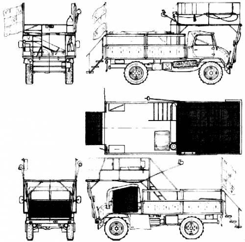 Mercedes-Benz Unimog U404 Fire Truck (1955)