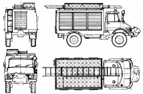 Mercedes-Benz Unimog U416 Fire Truck (1973)