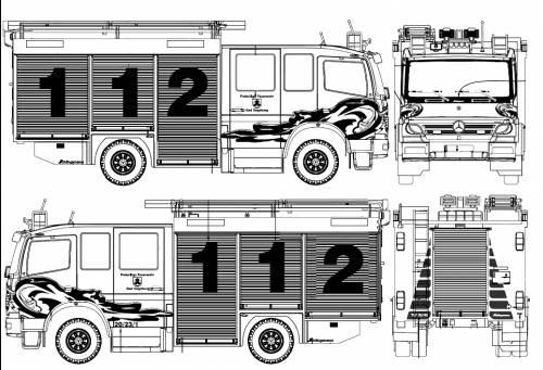 Mercedes-Schlingmann TLF 16-25 SingleBenz Atego 1520