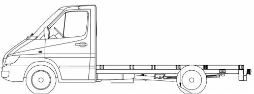 Mercedes Sprinter 3 CDI 4x4 Chassis