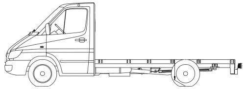 Mercedes Sprinter 4 CDI 4x4 Chassis