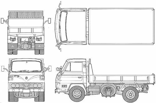 Mitsubishi Fuso Canter T200 Series S50 Dump Truch