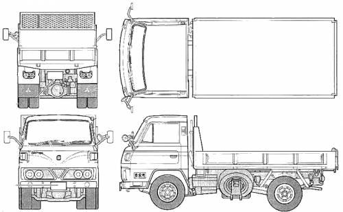 Mitsubishi Fuso Canter T200 Series S50 Dump Truck