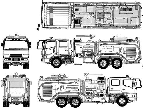 Mitsubishi Fuso Fire Pumper Truck Osaka Fire Department