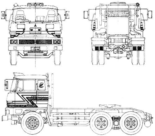 Mitsubishi Fuso FV214JR Tractor