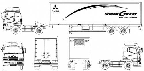 Mitsubishi Fuso Super Great Semi Trailer